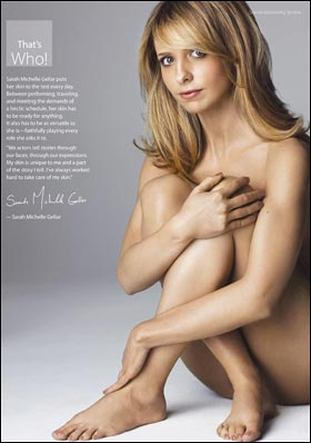 SARAH MICHELLE GELLAR has become the latest celeb to bare all for charity, ...