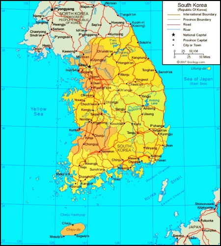 south-korea-map