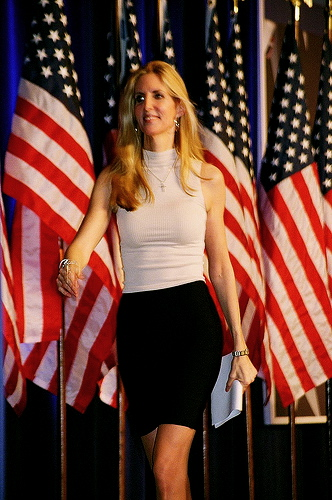 American University Address >> Ann Coulter's scary words frighten Liberals | 22MOON.COM