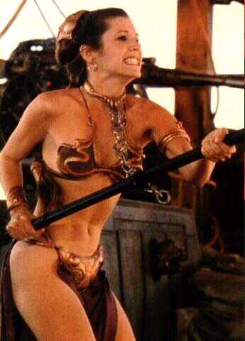 Theme interesting, carrie fisher princess leia slave