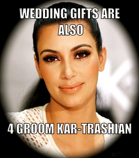 Kim Kardashian kept all the couples wedding gifts against Kris ...