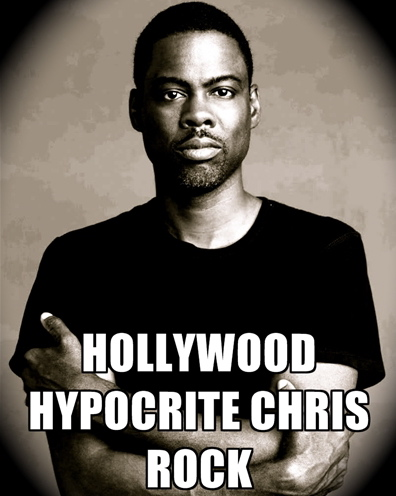 Chris Rock (backed by his bodyguards) challenges conservative author