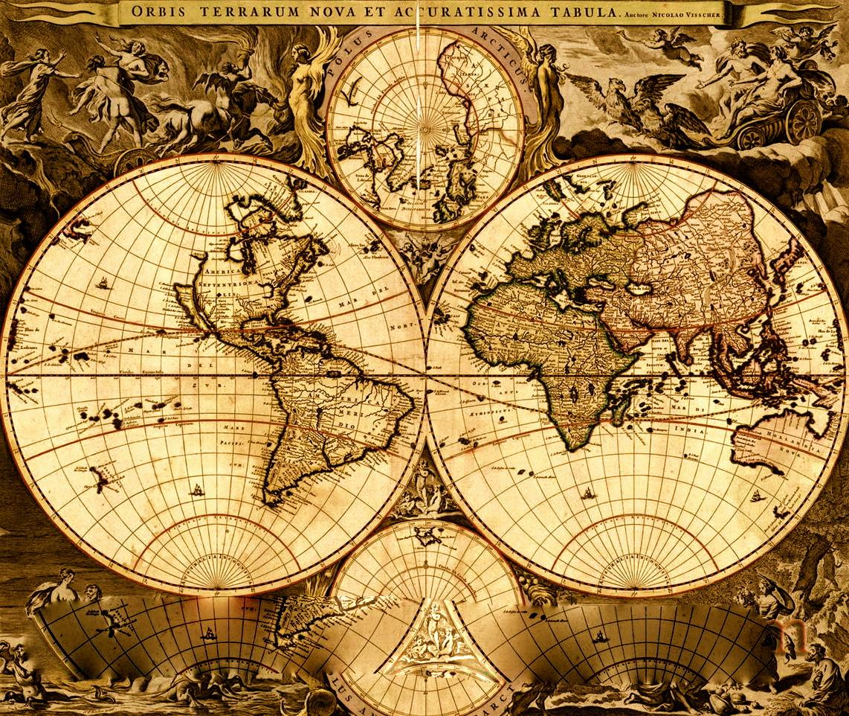 Vintage World Maps 88