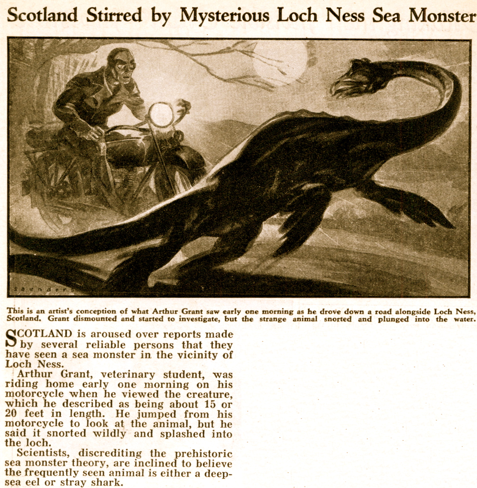 a history of the loch ness myth We all know that the tale of the loch ness monster lurking in the dark expanse of  loch  to learn more about the loch's natural history, myths and mysteries.