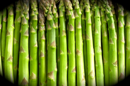 Horizontal background image of asparagus stalks.