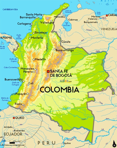 Clombia-map