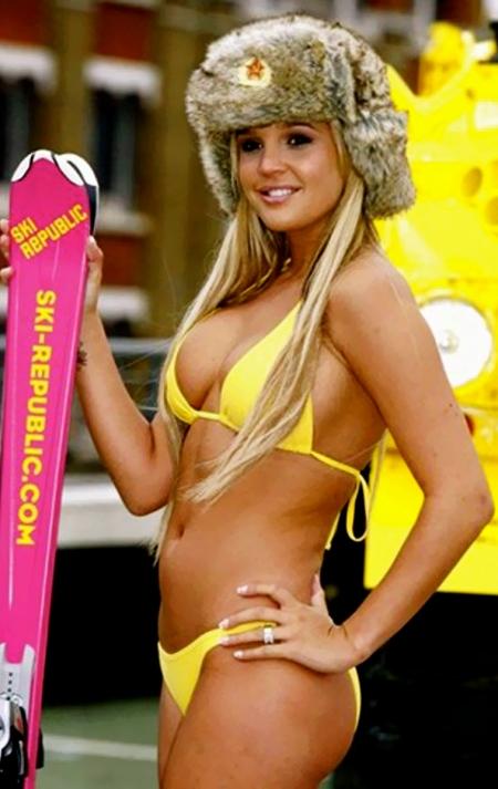 Lindsey-Vonn-Swimsuit-yellow