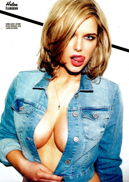HELEN FLANAGAN in FHM Magazine, February 2013 Issue