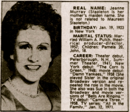 Archie Bunker's wife Jean Stapleton dead at age 90 | 22MOON.COM Under A Funeral Moon