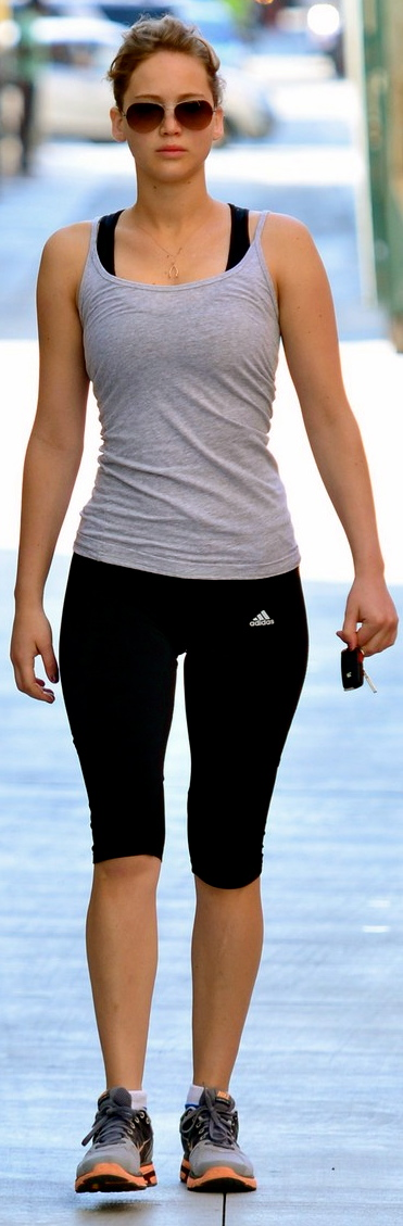Jennifer Lawrence spotted going to the gym in Santa Monica..