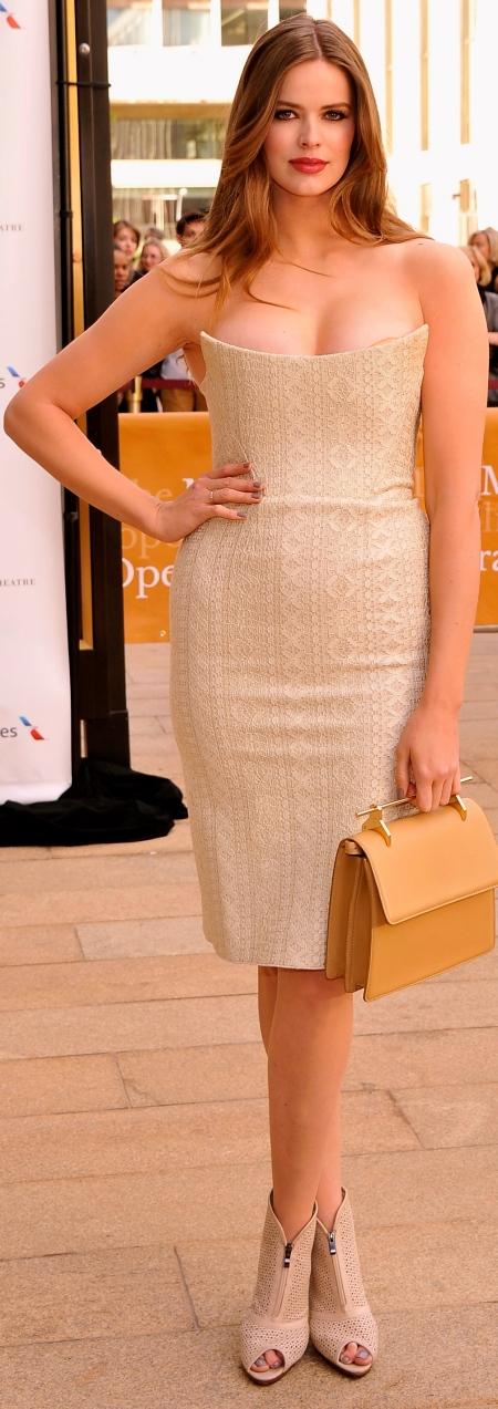 robyn-lawley-ballet-gala-beige-dress
