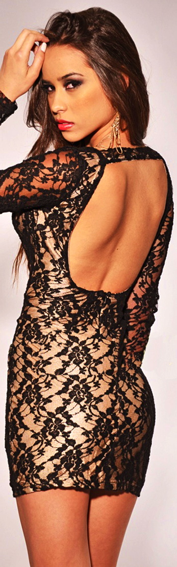 Black-Lace-Nude-Illusion-Key-Hole-Back-autumn-Dress-new-fashion-2013-LC2881-Drop-Shipping-2013