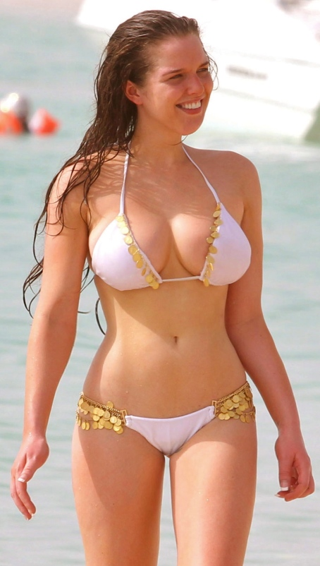HELEN FLANAGAN in Bikini on the Beach in Dubai
