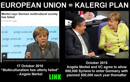 Image result for Angela Merkel and the Kalergi Plan