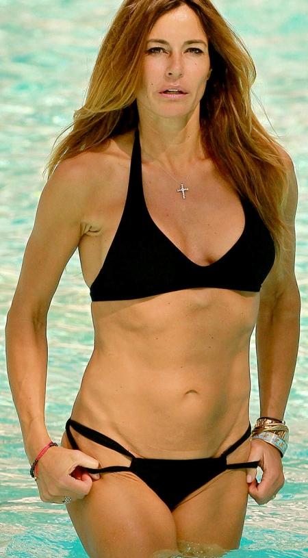 KELLY BENSIMON in Bikini at Seminole Hard Rock Pool