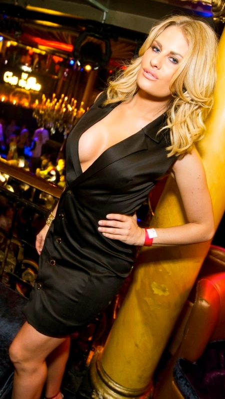 PAY-Birthday-girl-Danielle-Armstrong-sports-a-minor-nipple-slip-in-her-revealing-silky-dress