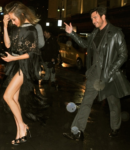 """EXCLUSIVE: Maggie Q suffers a wardrobe malfunction as heavy wind blows her slit skirt as she arrives with fiance Dylan McDermott to """"The Divergent Series: Allegiant"""" after party at Cipriani 42nd St. on Monday March14th, 2016. Pictured: Maggie Q, Dylan McDermott Ref: SPL1246570 140316 EXCLUSIVE Picture by: Splash News Splash News and Pictures Los Angeles: 310-821-2666 New York: 212-619-2666 London: 870-934-2666 photodesk@splashnews.com"""