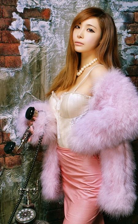 13 Jo Se Hee - Fluffy Purple-very cute asian girl-girlcute4u.blogspot.com