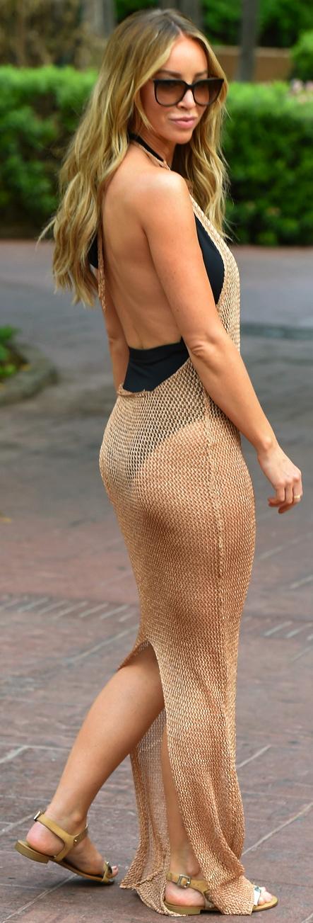 lauren-pope-chainmail-dress-marbella