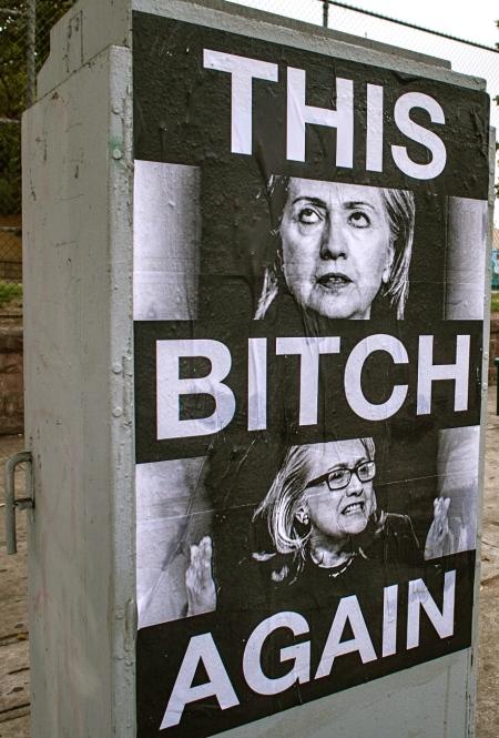 Hillary Clinton Appears Arlington and Adams Syphilis Bitch