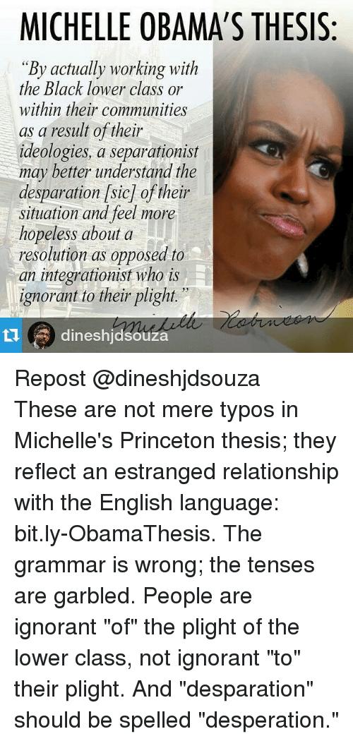 michelle obama princeton thesis hitchens